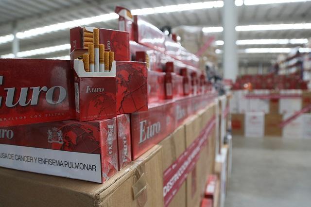 El SAT destruye más de 4.2 millones de cigarros ilegales